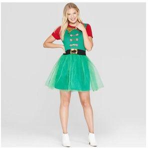 Santa Elf Christmas Holiday Dress XS S L